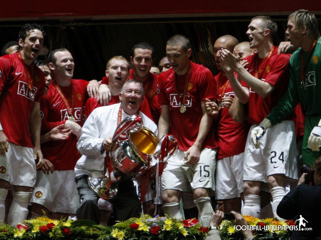 Kings of Europe 2008 | Manchester United Wallpaper