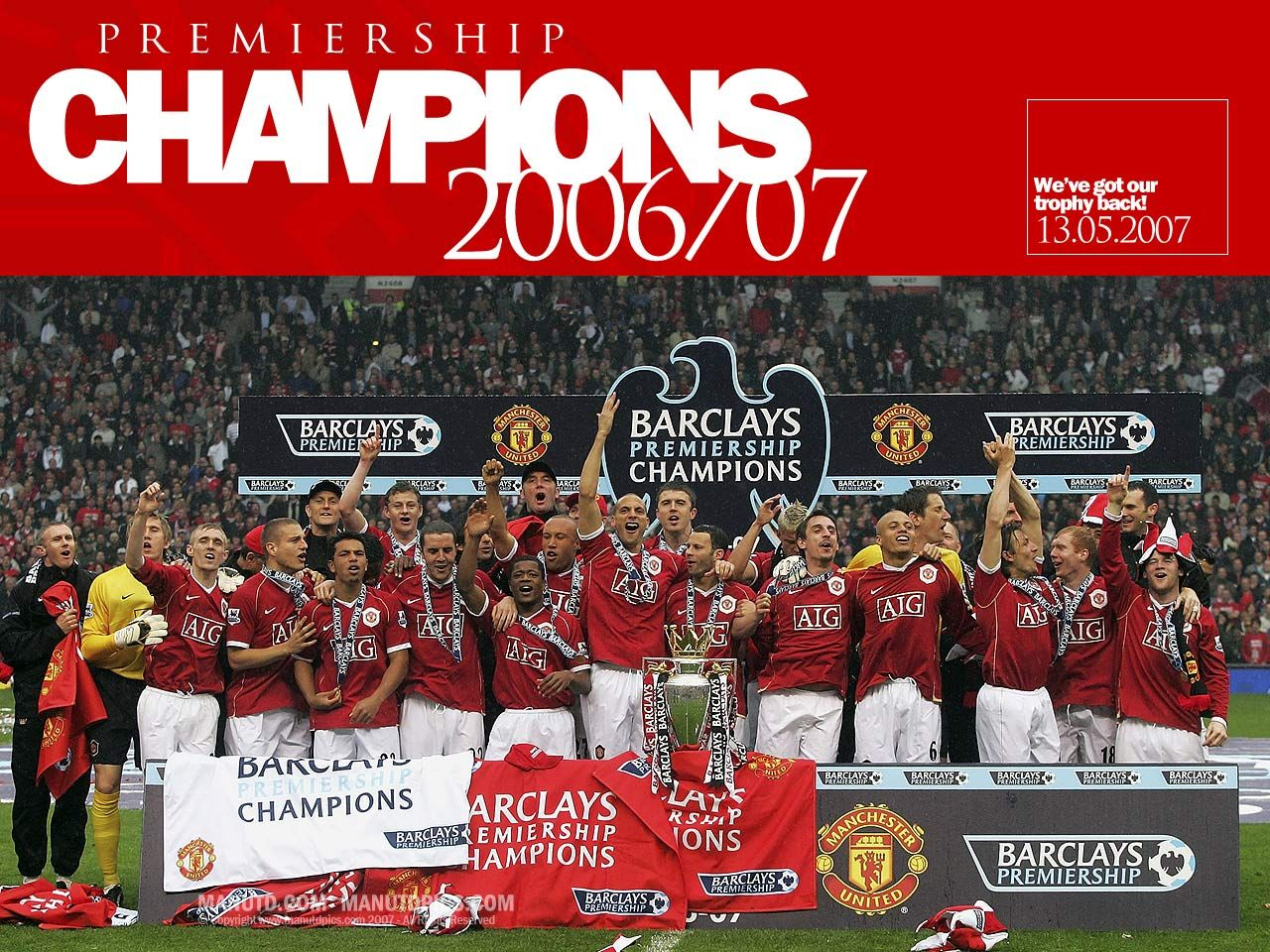 Champions manchester united wallpaper for 07 08 championship table
