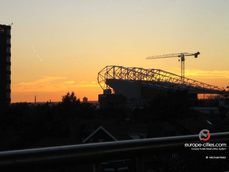 Old Trafford at sunset