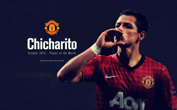 Chicharito Wallpaper - Player of The Month Oktober 2012