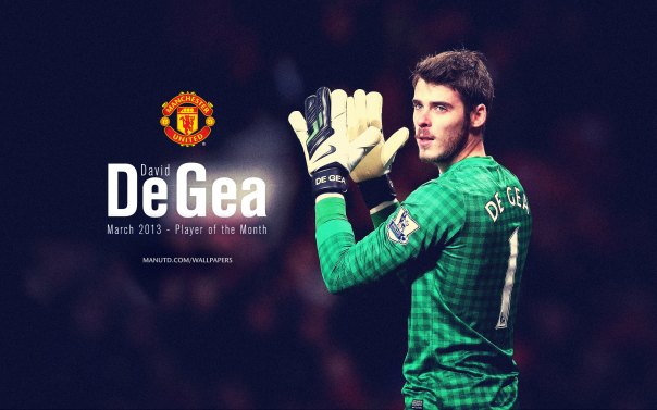 David de Gea Wallpaper - Player of The Month March 2013