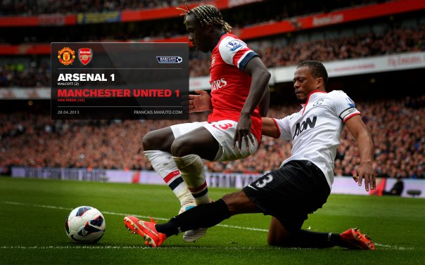 Manchester United Matches Wallpaper 2012-2013 v Arsenal Away Evra
