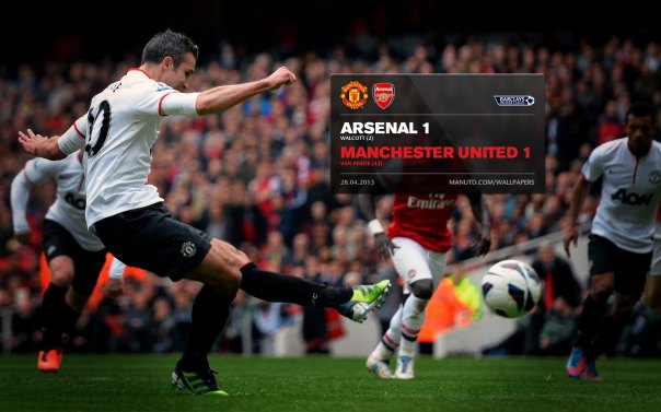 Manchester United Matches Wallpaper 2012-2013 v Arsenal Away van Persie