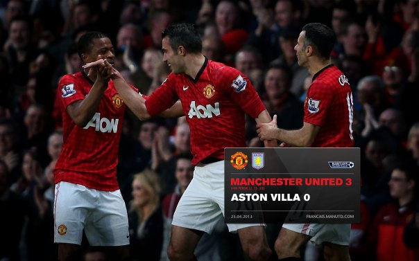 Manchester United Matches Wallpaper 2012-2013 v Aston Villa Home Evra