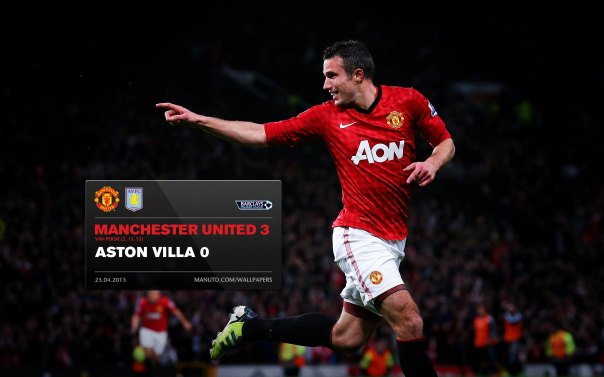 Manchester United Matches Wallpaper 2012-2013 v Aston Villa Home van Persie