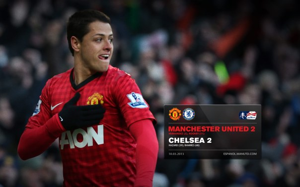 Manchester United Matches Wallpaper 2012-2013 v Chelsea FA Cup Home Chicharito
