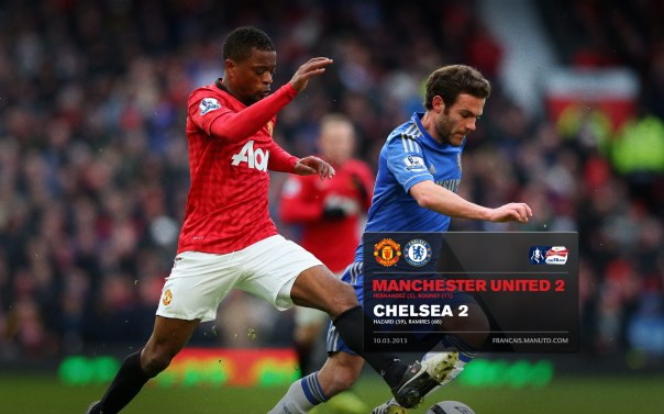 Manchester United Matches Wallpaper 2012-2013 v Chelsea FA Cup Home Evra
