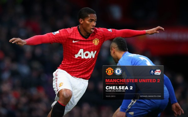 Manchester United Matches Wallpaper 2012-2013 v Chelsea FA Cup Home Valencia