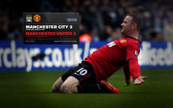 Manchester United Matches Wallpaper 2012-2013 v City Away Rooney