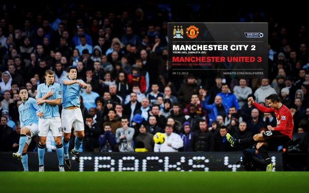 Manchester United Matches Wallpaper 2012-2013 v City Away Van Persie