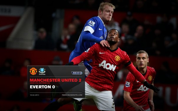 Manchester United Matches Wallpaper 2012-2013 v Fulham Everton Home Evra