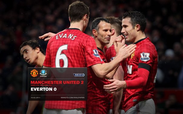 Manchester United Matches Wallpaper 2012-2013 v Fulham Everton Home