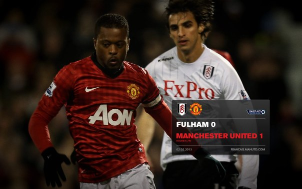 Manchester United Matches Wallpaper 2012-2013 v Fulham Fulham Away Evra