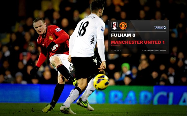 Manchester United Matches Wallpaper 2012-2013 v Fulham Fulham Away Rooney