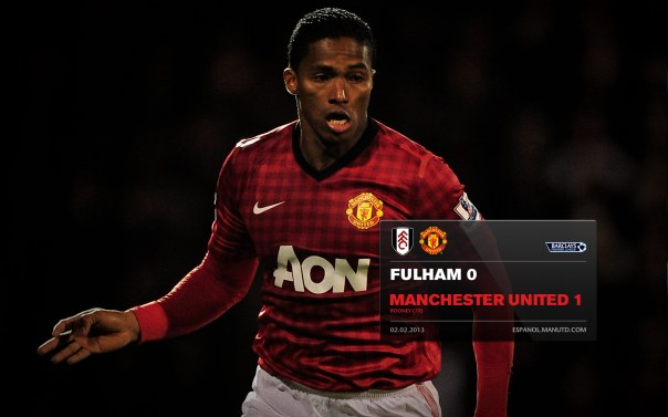 Manchester United Matches Wallpaper 2012-2013 v Fulham Fulham Away Valencia
