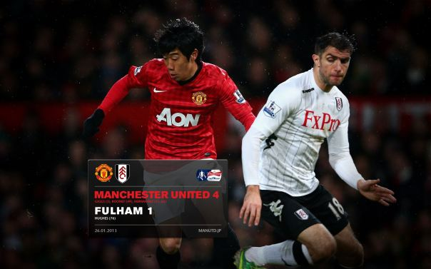 Manchester United Matches Wallpaper 2012-2013 v Fulham Home FA Cup Kagawa