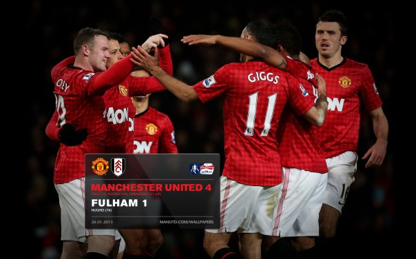 Manchester United Matches Wallpaper 2012-2013 v Fulham Home FA Cup