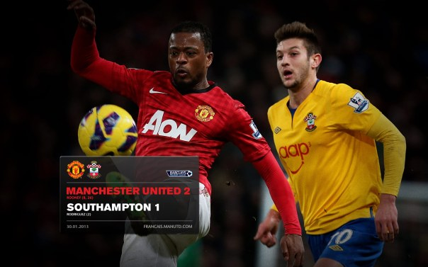 Manchester United Matches Wallpaper 2012-2013 v Fulham Southampton Home Evra