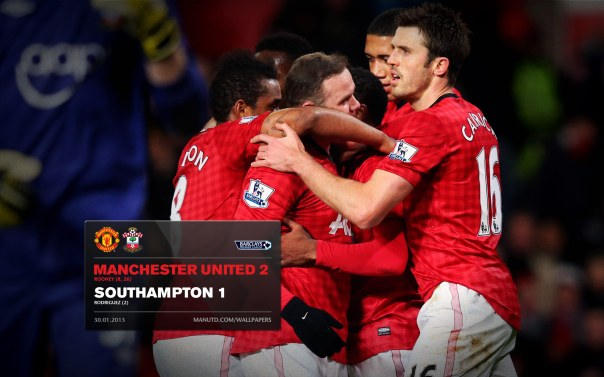 Manchester United Matches Wallpaper 2012-2013 v Fulham Southampton Home
