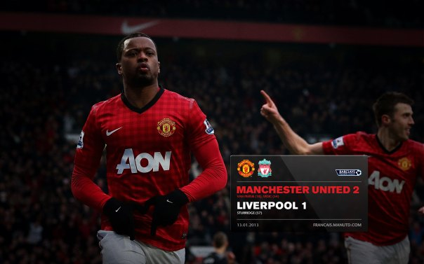 Manchester United Matches Wallpaper 2012-2013 v Liverpool Home Evra