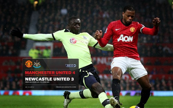 Manchester United Matches Wallpaper 2012-2013 v Newcastle Home Evra