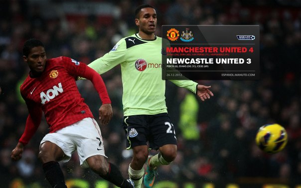 Manchester United Matches Wallpaper 2012-2013 v Newcastle Home Valencia
