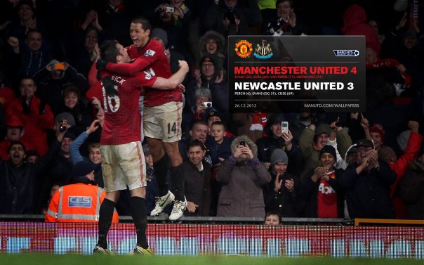 Manchester United Matches Wallpaper 2012-2013 v Newcastle Home