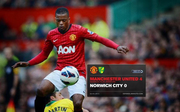 Manchester United Matches Wallpaper 2012-2013 v Norwich Home Evra