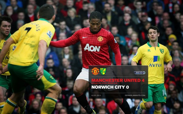 Manchester United Matches Wallpaper 2012-2013 v Norwich Home Valencia