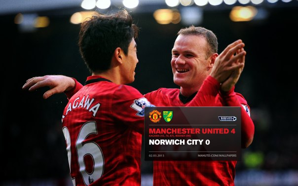 Manchester United Matches Wallpaper 2012-2013 v Norwich Home