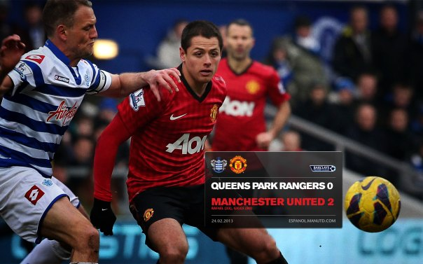 Manchester United Matches Wallpaper 2012-2013 v QPR Away Chicharito