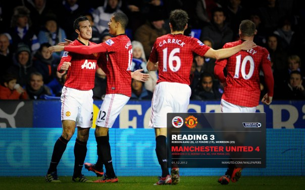 Manchester United Matches Wallpaper 2012-2013 v Reading Away