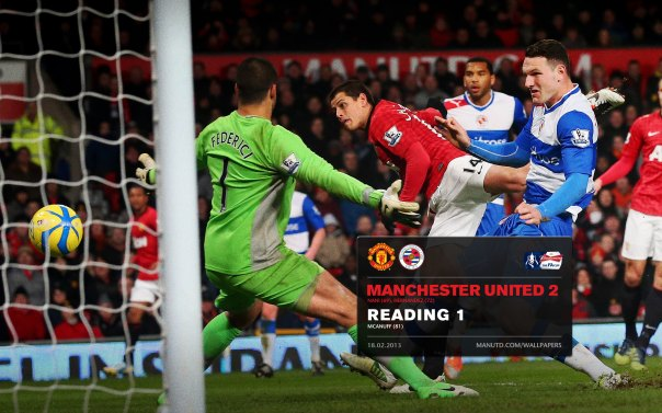 Manchester United Matches Wallpaper 2012-2013 v Reading FA Cup Home Chicharito