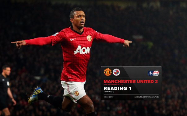 Manchester United Matches Wallpaper 2012-2013 v Reading FA Cup Home Nani