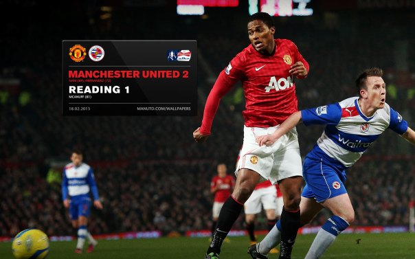Manchester United Matches Wallpaper 2012-2013 v Reading FA Cup Home Valencia