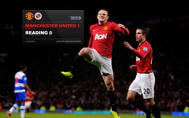Manchester United Matches Wallpaper 2012-2013 v Reading Home