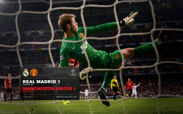 Manchester United Matches Wallpaper 2012-2013 v Real Madrid UCL Away De Gea