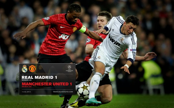 Manchester United Matches Wallpaper 2012-2013 v Real Madrid UCL Away Evra