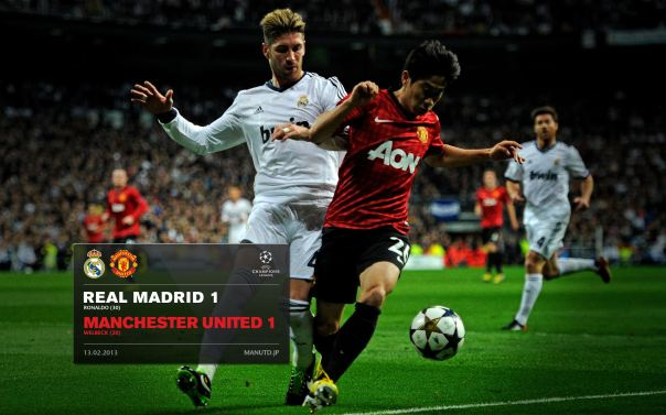 Manchester United Matches Wallpaper 2012-2013 v Real Madrid UCL Away Kagawa