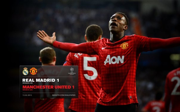 Manchester United Matches Wallpaper 2012-2013 v Real Madrid UCL Away