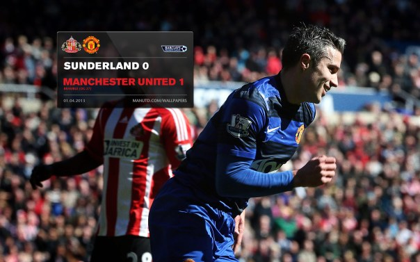 Manchester United Matches Wallpaper 2012-2013 v Sunderland Away Van Persie