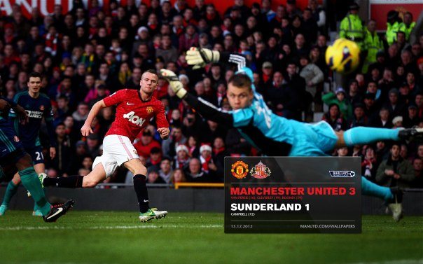 Manchester United Matches Wallpaper 2012-2013 v Sunderland Home Cleverley
