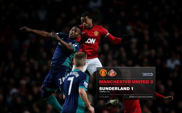 Manchester United Matches Wallpaper 2012-2013 v Sunderland Home Evra