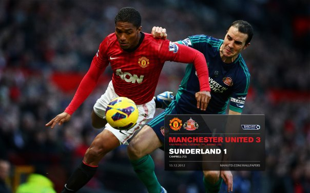 Manchester United Matches Wallpaper 2012-2013 v Sunderland Home Valencia