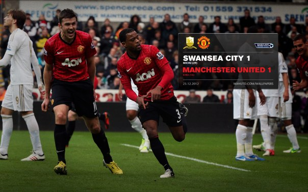 Manchester United Matches Wallpaper 2012-2013 v Swansea Away Evra