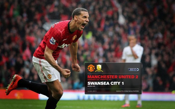Manchester United Matches Wallpaper 2012-2013 v Swansea Home Ferdinand