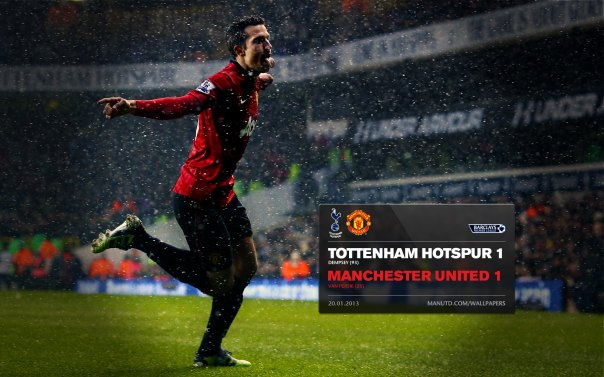 Manchester United Matches Wallpaper 2012-2013 v Tottenham Away Van Persie