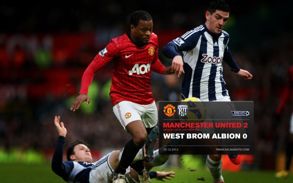 Manchester United Matches Wallpaper 2012-2013 v WBA Home Evra