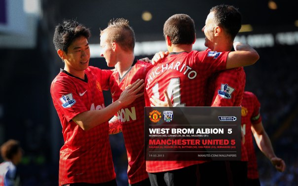 Manchester United Matches Wallpaper 2012-2013 v West Brom Away