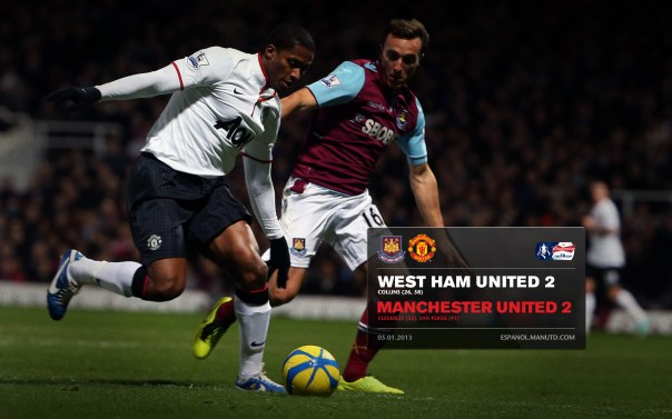 Manchester United Matches Wallpaper 2012-2013 v West Ham Away FA Cup Valencia